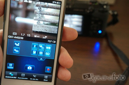 Lumix GX7 desde móvil