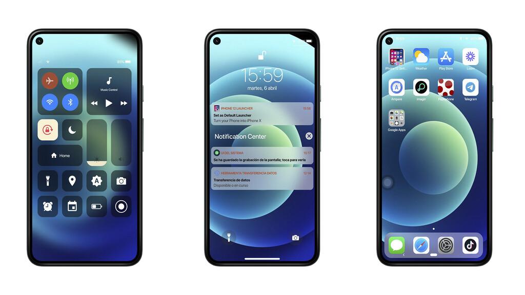 Phone doce Launcher: convierte usted Android™ en un iPhone con esta aplicación