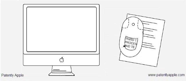 apple patente magic mouse pantalla