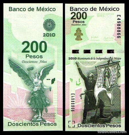 Billete 200 Pesos Mexico Vertical 2009 2010