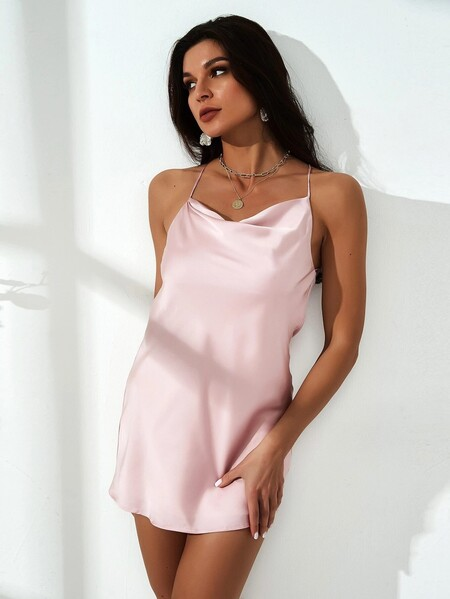Vestido Rosa Saten 03