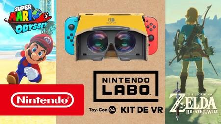 La realidad virtual de Nintendo Switch también llegará a Zelda Breath of the Wild y Super Mario Odyssey este mismo mes