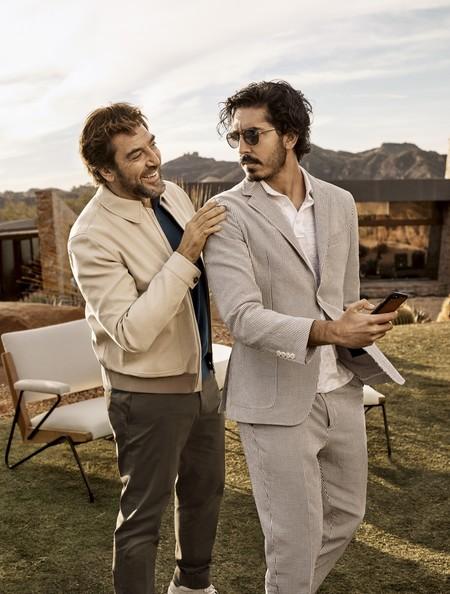 Javier Bardem y Dev Patel aciertan con los tonos tierra en la nueva campaña de Ermenegildo Zegna