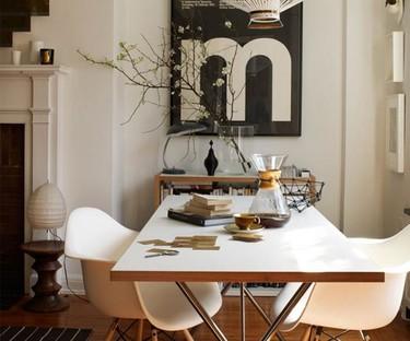 Sofisticado apartamento neoyorkino en oro, blanco y negro