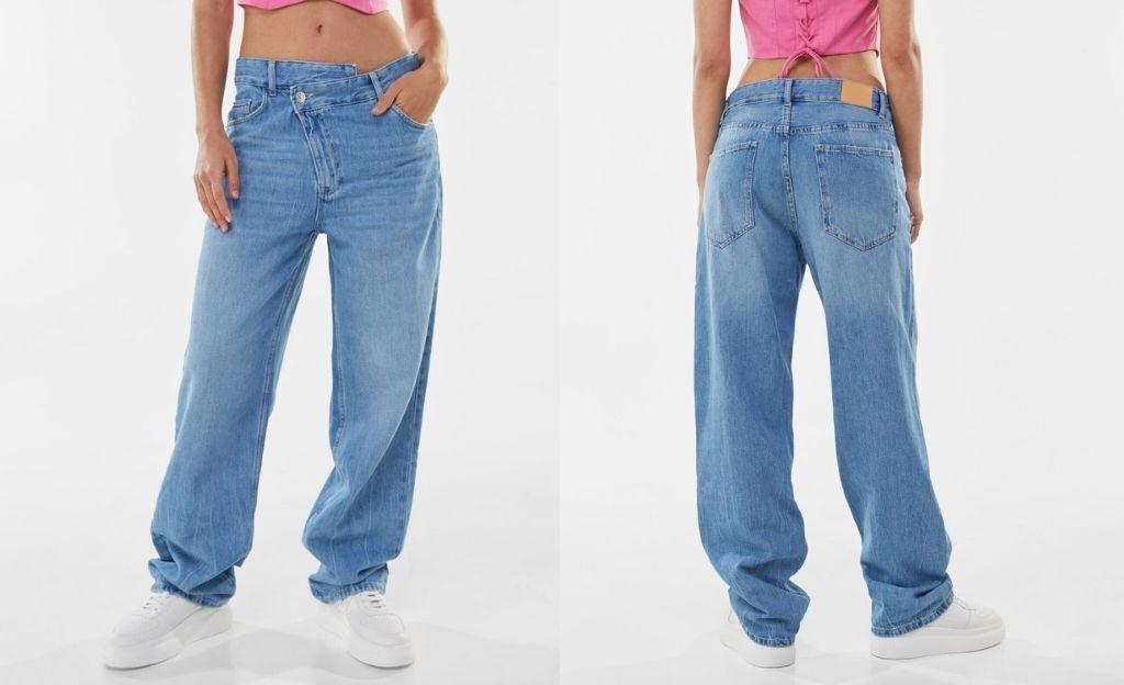 Jeans baggy asimétricos