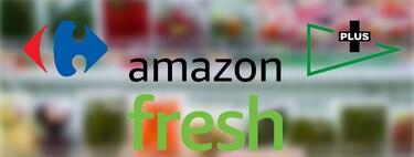 Amazon Fresh frente a Mercadona, El Corte Inglés y Carrefour: comparamos los servicios de entrega rápida de los supermercados online