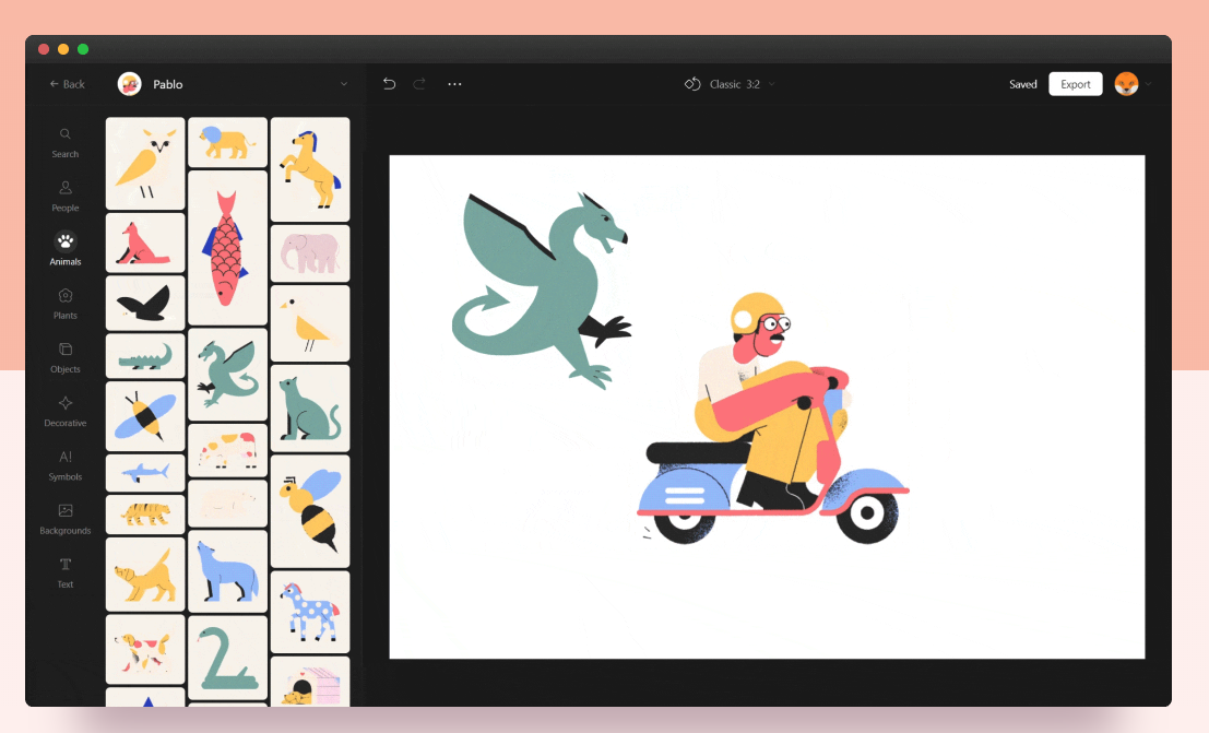 Vector Creator: crea gratis tus propias ilustraciones personalizadas a partir de más de 3000 elementos...
