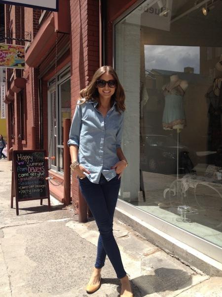 Olivia Palermo sigue con la moda de todas las mortales