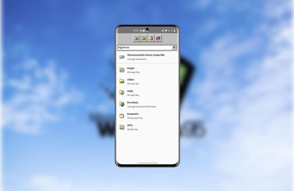 Este explorador de archivos para Android tiene la estética de Windows 95 y es todo un golpe de nostalgia