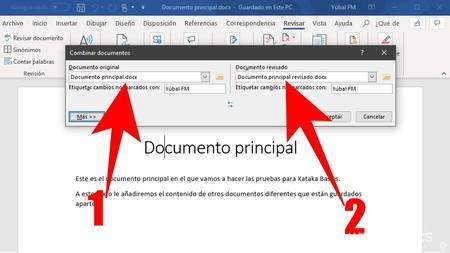Pantalla Combinar Documentos