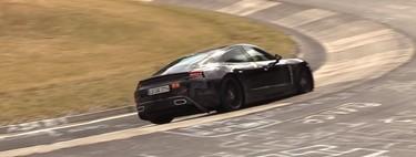 El Porsche Taycan quema ruedas en Nürburgring... aún con las salidas de escape falsas