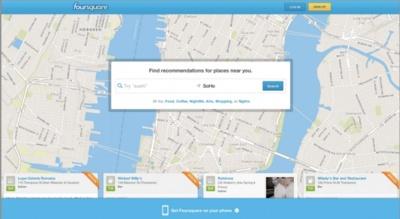 Foursquare convierte su página de inicio en un buscador local para competir mejor contra Yelp