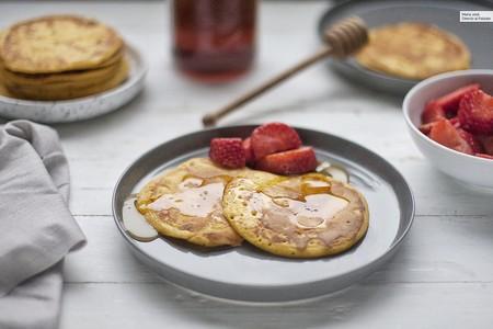 Louisiana sweet potato pancakes o tortitas de boniato, receta fácil y rápida para darse un capricho