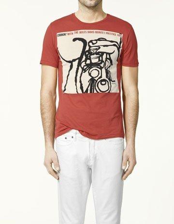 Zara jazz camiseta