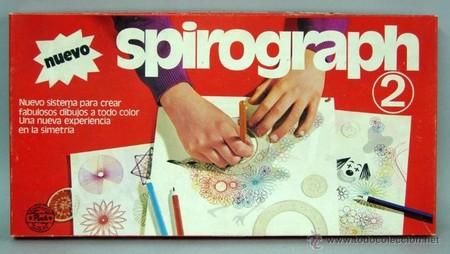 Este es el Spirograph antiguo, algo que probablemente las nuevas generaciones no han visto nunca.