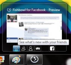 Fishbowl en la barra de tareas