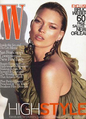 Kate Moss para W Magazine
