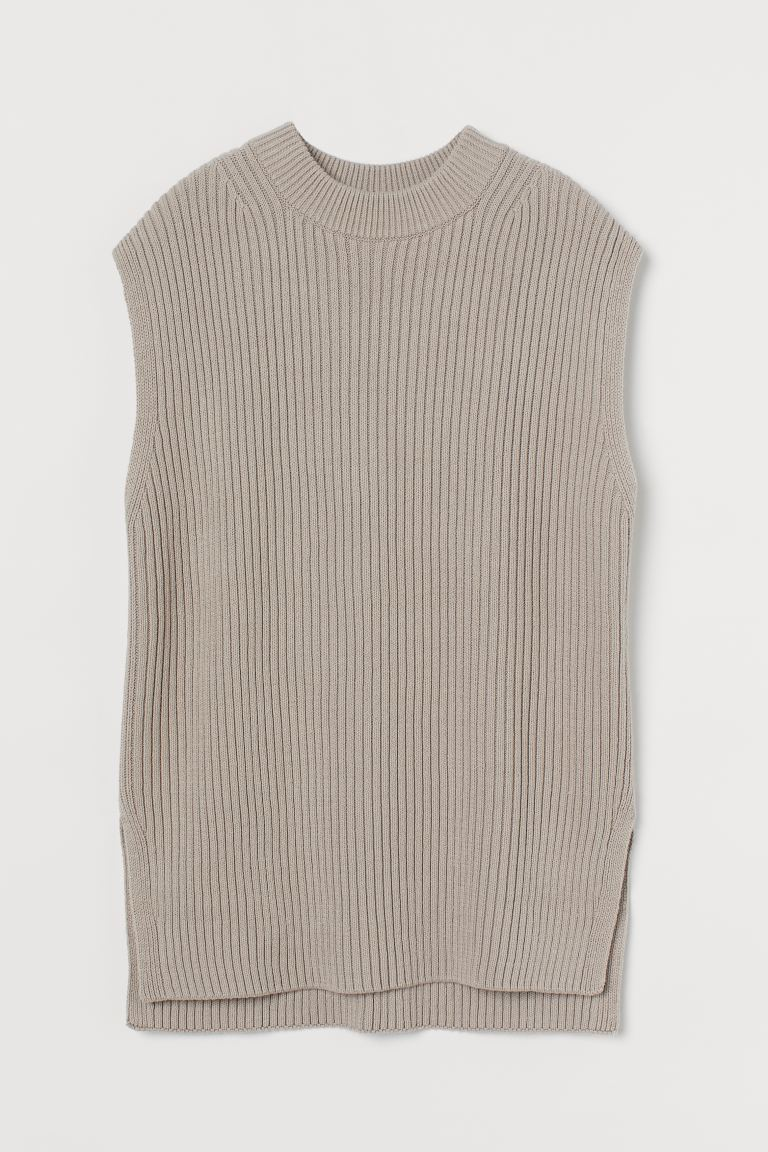 Suéter oversize sin mangas