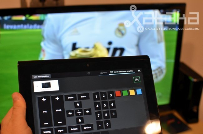 sony tablet como mando a distancia