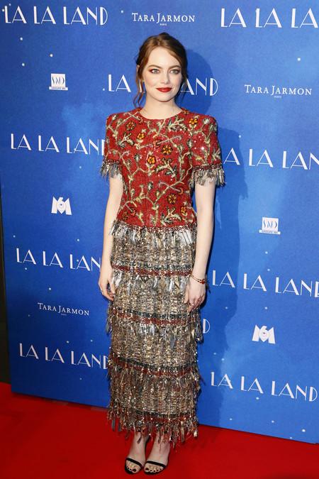 Emma Stone Estreno La La Land Paris Look Chanel 2