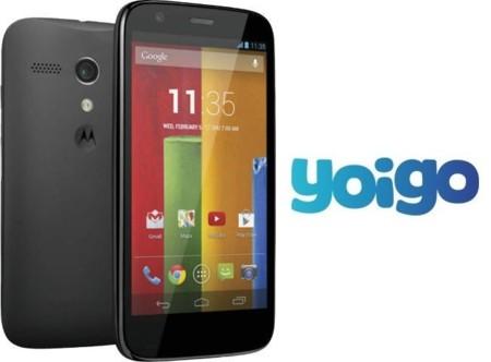 El Motorola Moto G llega a Yoigo por cero euros con portabilidad de contrato a cualquier tarifa