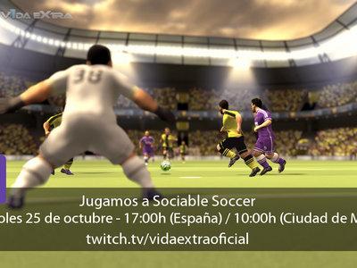 Jugamos en directo a Sociable Soccer a las 17:00h (las 10:00h en Ciudad de México)