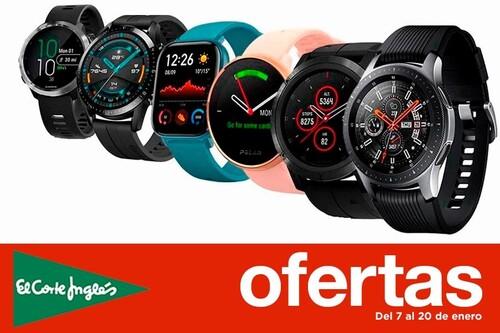 18 smartwatches y pulseras deportivas que puedes encontrar con hasta un 40% de descuento en las Rebajas de El Corte Inglés