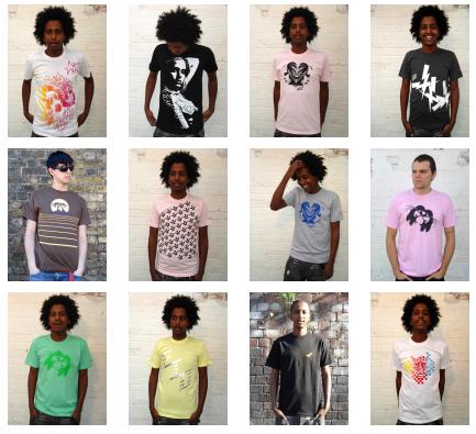 Camisetas EIO, distintas