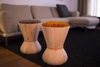 Swithy, una pequeño mueble auxiliar sinuoso, atractivo y multifunción de Two Six
