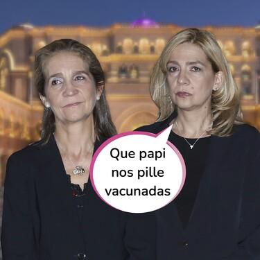 Corona sin virus: Las infantas Elena y Cristina se vacunaron en Abu Dabi durante la visita de agosto al Rey Emérito