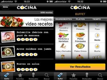 Canal cocina en el iphone
