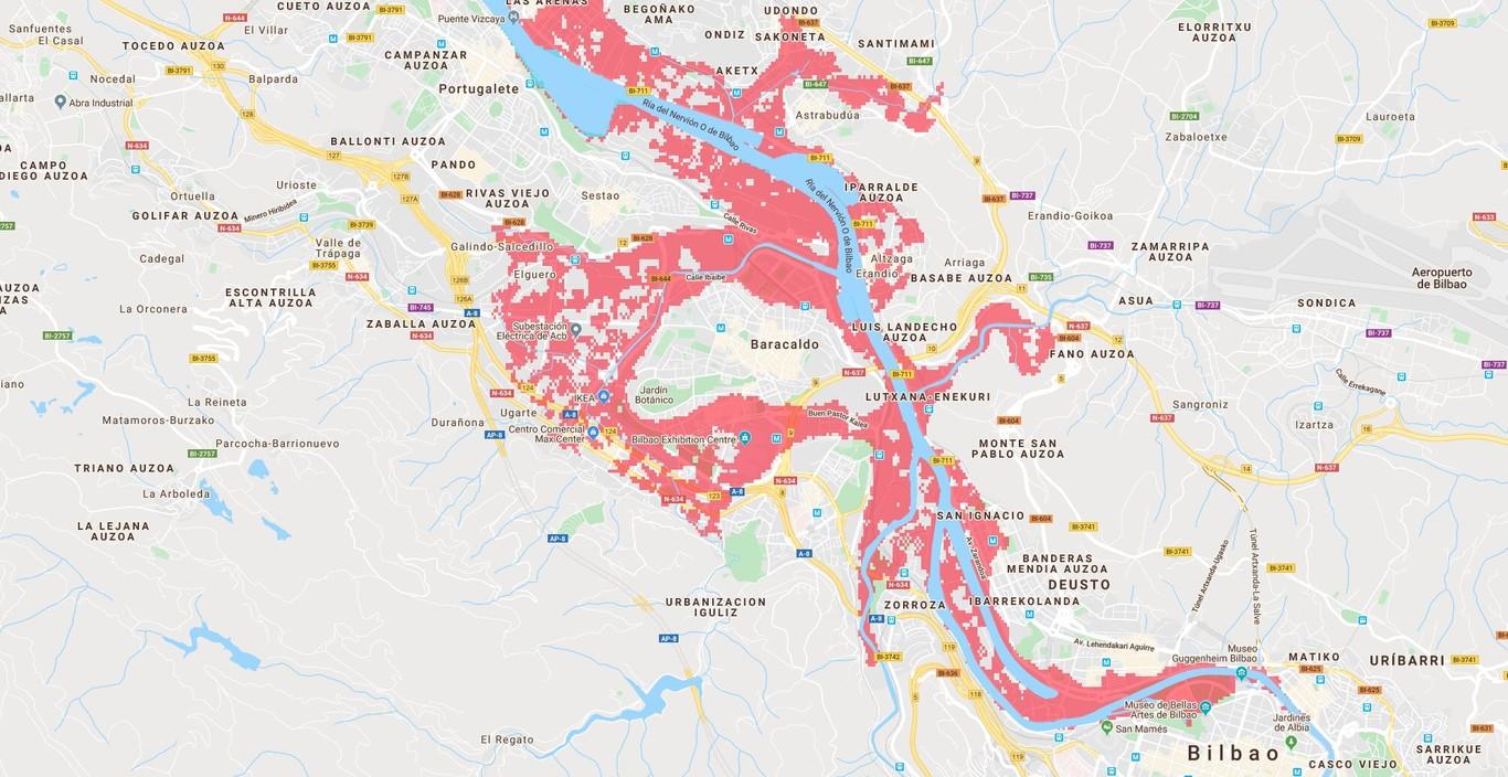 Mapa Bilbao Y Alrededores.Asi Es Como Puede Desaparecer El Gran Bilbao En Tres