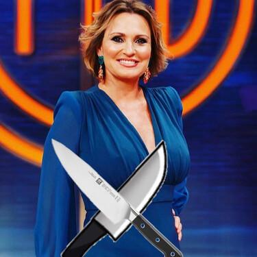 Una muy sudorosa Ainhoa Arteta entra en cólera, saca los cuchillos y manda a Jordi Cruz a freir espárragos en 'MasterChef Celebrity 5'