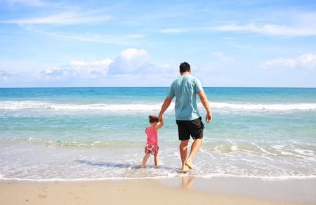 Father Daughter Beach Sea 38302