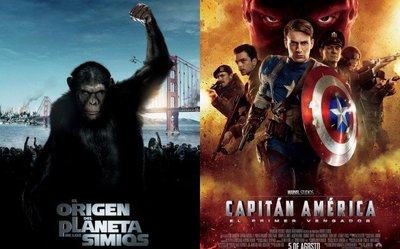 Taquilla española | Los simios derrotan al Capitán América