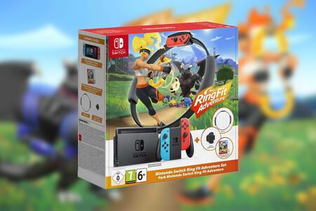 Quema los polvorones y mazapanes de Navidad con el pack de Nintendo Switch + Ring Fit Adventure: en eBay por 379,95 euros