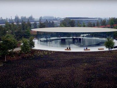 El Steve Jobs Theater donde será la keynote del 12 de septiembre ya es una realidad en el último vídeo en drone