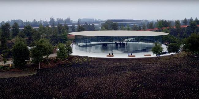Apple Park Steve Jobs Theater Keynote Septiembre 2017 Dron Imagenes Preparacion