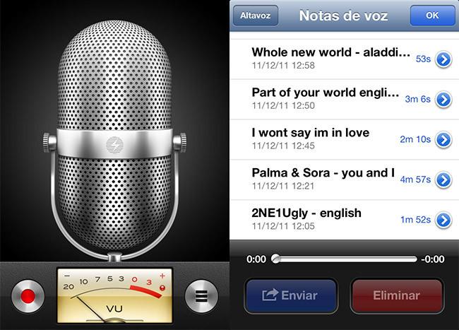 Notas de voz en iOS 6