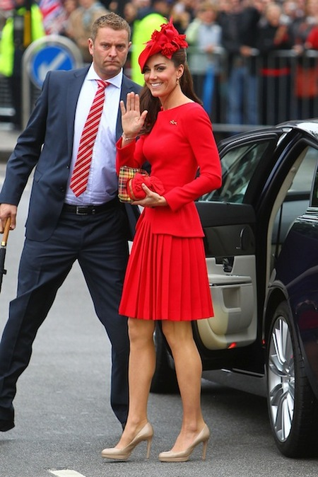 Kate Middleton, querida, un vestido más discretito no nos hubiese venido nada mal...