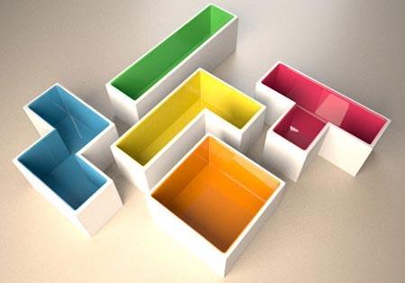 Unos maceteros inspirados en el mítico Tetris