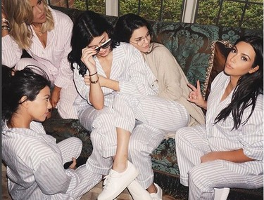 Una Baby-shower versión fiesta del pijama para Kim Kardashian