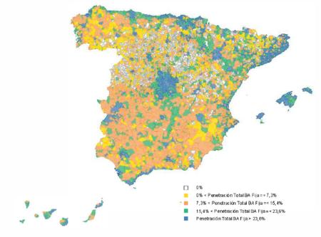 """La CMT publica el """"Informe de seguimiento geográfico de banda ancha en España"""""""