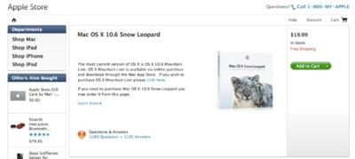 Apple vuelve a poner a la venta OS X Snow Leopard en la Apple Store Online de Estados Unidos