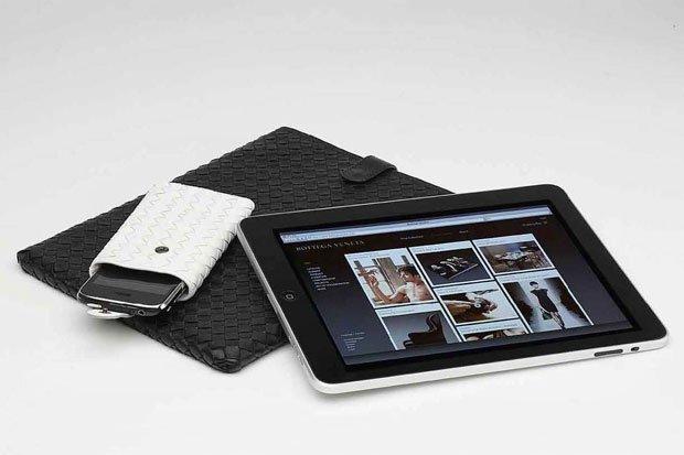 Bottega Veneta, fundas para iPad e Iphone