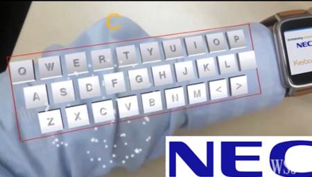 ARmKeypad, el teclado de Realidad Aumentada que NEC quiere que lleves en el antebrazo