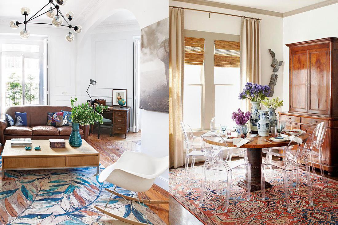 17 ideas de interiores que fusionan estilos cl sico y moderno for Estilo clasico moderno