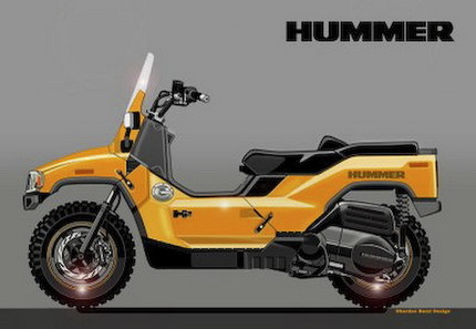 Si Hummer lanzara una scooter...