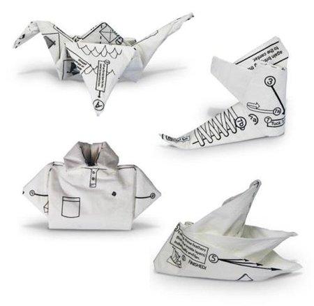 servilletas origami, figuritas