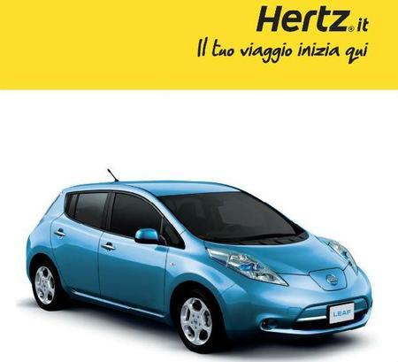 Hertz ofrece en Milán el Nissan Leaf como vehículo de alquiler